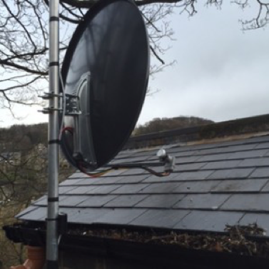 Satellite dish installation in Harrogate
