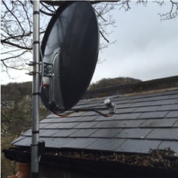 Satellite dish installations in Halifax