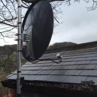 Satellite installation in Leeds