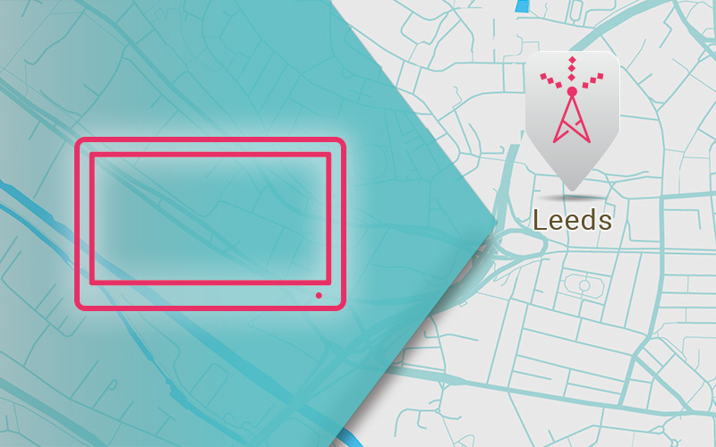 A map of Leeds - Aerial Installation and Repairs